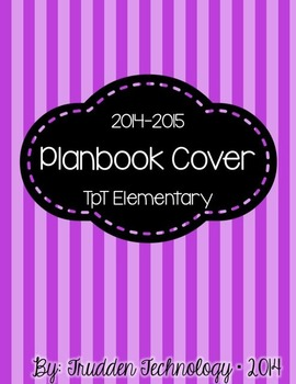 Editable Planbook Cover Page {Bright Stripes & Dots}