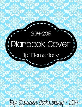 Editable Planbook Cover Page {Damask A}