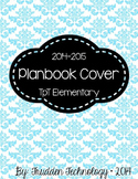 Editable Planbook Cover Page {Damask B}