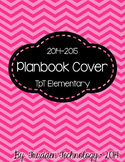 Editable Planbook Cover Page {Pinwheel Chevron}