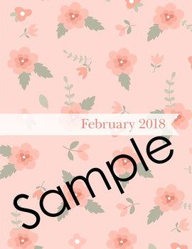 Editable Planner – 2017-2018 Academic Year – Pink Vintage Flowers