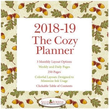 Editable Planner – 2018-2019 Academic Year - The Cozy Planner