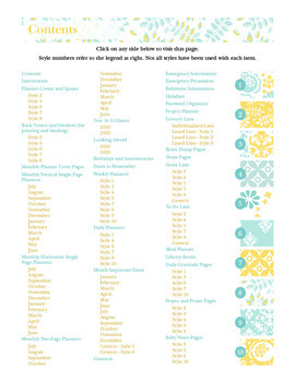 Editable Planner – 2019-2020 Academic Year – Aqua and Yellow