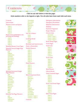 Editable Planner – 2019-2020 Academic Year – Strawberries