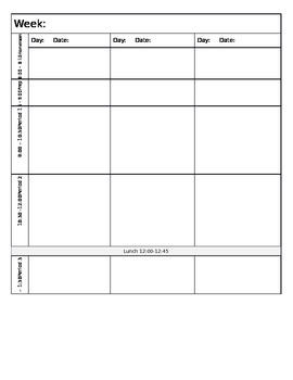 Editable Planning Book