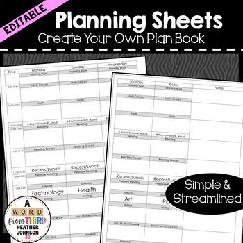 Editable Planning Sheet