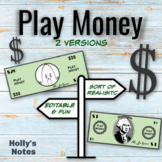 Editable Play Money