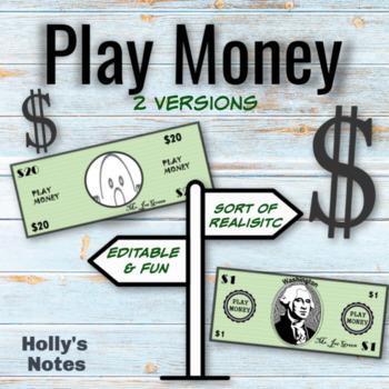 Editable Play Money