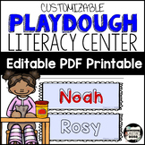 Name Recognition with Playdoh Mats. Low Prep Literacy Center; Editable {English}