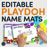 Editable Playdoh Name Mats