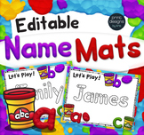 Editable Playdoh Name Mats with Custom Playdoh Font