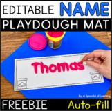 Editable Playdough Name Mats | Editable Name Practice FREEBIE