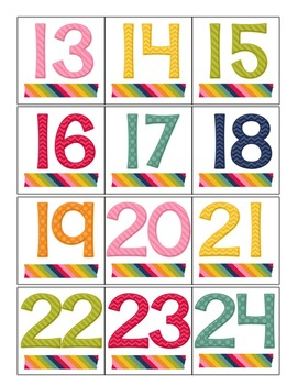 Editable Pocket Chart Calendar with Canadian and American Holidays