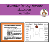 Editable Poetry March Madness Activity