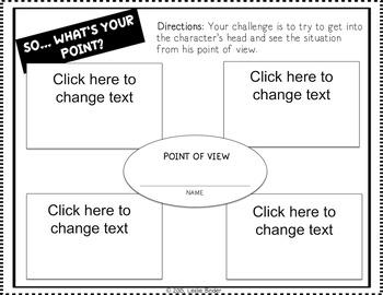 Point of View Graphic Organizers & Comparison Matrices-{BUNDLE}