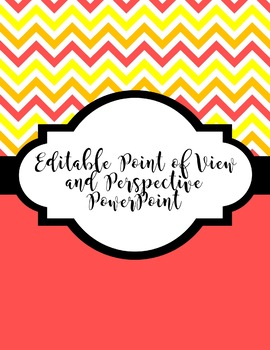 Editable Point of View PowerPoint Mini Lesson