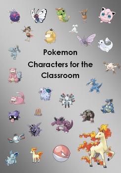 Editable Pokemon Characters for Classroom