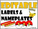 Editable Pokemon Labels and Name Plates