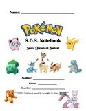 Editable Pokemon S.O.S. (Super Organized Student) Notebook
