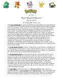 Editable Bilingual Pokemon themed SOS Notebook instruction letter