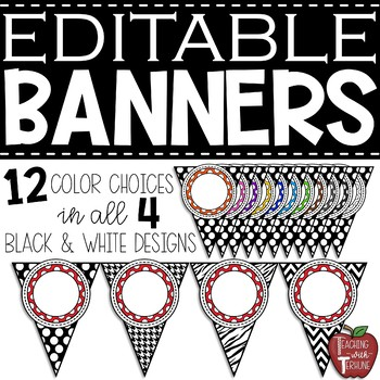 EDITABLE Banner Pennants