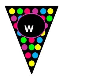 Editable Polka-Dot Banners