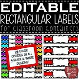 EDITABLE Rectangular Classroom Labels {Rectangle Basket Labels}