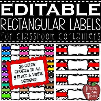 Editable Polka Dot Basket Labels