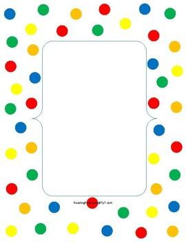 Polka Dot Binder Cover and Library Pocket