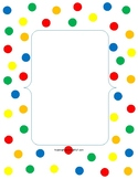 Polka Dot Binder Cover and Library Pocket