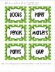 Editable Polka Dot Blank Multipurpose Tags Labels (Green W
