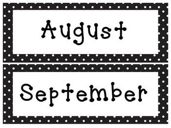 Editable Polka Dot Calendar and Classroom Super Pack