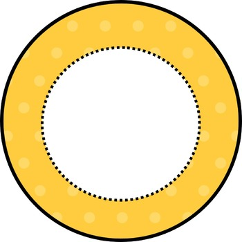 Editable Polka Dot Circle Cards