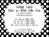 Editable Polka Dot Labels: Black
