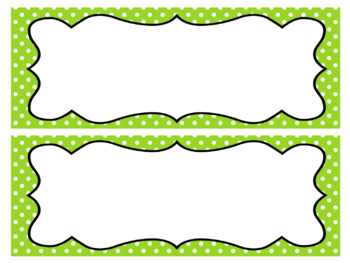 Editable Polka Dot Name Tags
