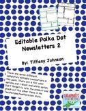 Classroom Newsletter Polka Dot News Letters 2