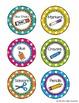 Editable Polka Dot Round Supply Labels