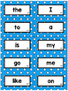 Editable Polka Dot Sight Word Flash Cards: Teachers College High Frequency Words