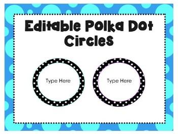 Editable Polka Dot Specials Signs