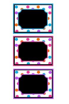 Editable Polka Dot Tags
