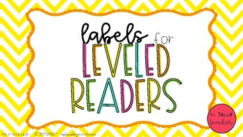 Labels for Leveled Reader book bins