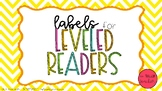 Labels for Leveled Reader book bins