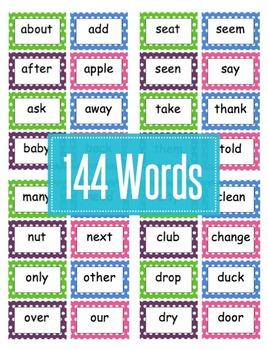 Editable Polka Dot Word Wall For Grade 2