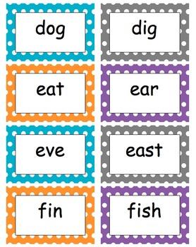 Editable Polka Dot Word Wall For K - Grade 1