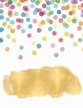 Editable Polka Dot and Glitter Binder or Planner Covers