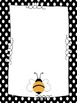 Editable Polka Dots and Bees Binders plus labels