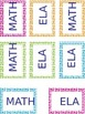 Editable Polka-dot labels for 2 pocket folders