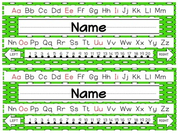 Editable Polkadot Nameplates