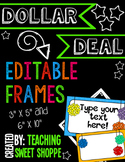 {DOLLAR DEAL} *Editable* Pom Pom Frames!
