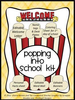 Editable PopCorn Welcome Kit